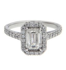 Round brilliant cut diamond engagement ring is for those brides who prefer traditional jewelry. This cut produces the maximum brilliance and that is why this cut has been the most popular cut for last century. Engagement Rings Princess, Emerald Cut Engagement, Cushion Cut Engagement Ring, Perfect Engagement Ring, Diamond Engagement Rings, Radiant Cut Diamond, Best Diamond, Diamond Bands, Diamond Cuts