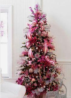 Fuscia pink Christmas tree