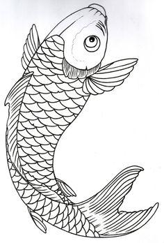 Two koi fish drawing outline Fish Drawing Outline, Koi Fish Drawing, Koi Fish Tattoo, Fish Drawings, Tattoo Outline, Line Drawing, Art Drawings, Fish Tattoos, Koi Art