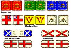War of the Spanish Succession England and Scotland Classic Style Cavalry Standards