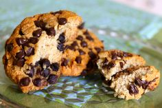 "Gluten Free and Vegan Chocolate Chip ""Cookie-Like"" Scones"