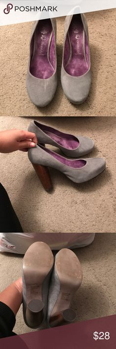 Grey suede Jeffery Campbell heels Good condition worn once Jeffrey Campbell Shoes Heels