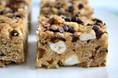 Peanut Butter, Marshmallow & Chocolate Rice Krispie Treats  |    Butter with a Side of Bread