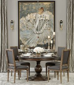 Looking for modern dining room ideas with furniture and decor? Explore our beautiful dining room ideas for interior design inspiration. Elegant Dining Room, Luxury Dining Room, Beautiful Dining Rooms, Dining Room Design, Dining Room Furniture, Dining Room Table, Gray Dining Rooms, Classic Dining Room, Gray Furniture