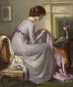 Robert Hope, RSA (British, 1869-1936) The Silken Gown
