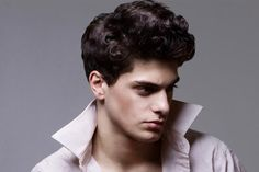 A list of curly hairstyles for men which inlcudes how to style curly hair men, curly hairstyles for black men, haircuts for men with wavy hair, and more. Curly Hair Men, Wavy Hair, Curly Hair Styles, Mens Hair, Hipster Hairstyles, Slick Hairstyles, Pompadour Men, Hipsters, Haircuts For Men