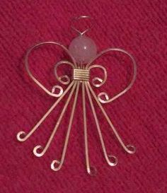 Free Wire Wrap Jewelry Patterns | Wire Wrapped Angel http://ecrafty.wordpress.com/category/christmas-crafts/ http://www.ecrafty.com/c-963-christmas-holiday-charms.aspx
