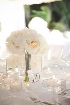 #peony #centerpiece Photography by jameschristianson.com  Read more - http://www.stylemepretty.com/2011/07/29/bahamas-wedding-by-james-christianson-photographer/