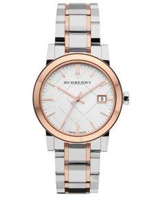 Burberry Watch, Women's Swiss Two-Tone Stainless Steel Bracelet 34mm BU9105