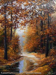 """The Gold Of The Autumn"" oil, canvas http://www.russianfineart.co/catalog/prod.php?productid=21167 Artist: Yanulevich Gennady"