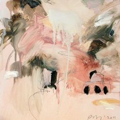 Pink, white, and black abstract painting by Cy Twombly Contemporary Abstract Art, Modern Art, Example Of Abstract, Black Abstract, Art Et Illustration, Art Moderne, Abstract Expressionism Art, Art Design, Art Plastique