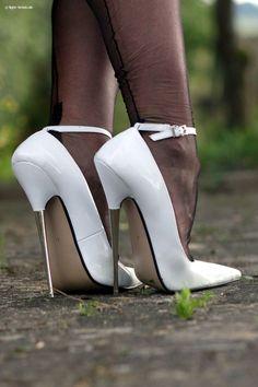 Cum fuck me heels White High Heels, Super High Heels, High Heels Stilettos, High Heel Boots, Stiletto Heels, Pantyhose Heels, Stockings Heels, Sexy Legs And Heels, Hot Heels