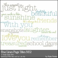 Fine Lines Page Titles No. 02 Brushes and Stamps - Photoshop Brushes