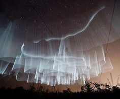white northern lights seen from Finland