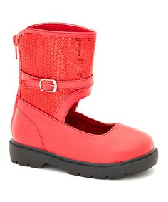 Look what I found on #zulily! Red Annie Shoe by China Doll #zulilyfinds