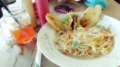 Fettucini with chicken and mushroom @Java Acosta bean