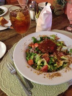 Catfish cake on greens at the Crown in Indianola, MS