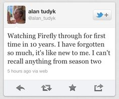 I laughed and then I cried. Thanks a lot, Alan.