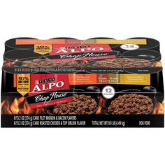Purina ALPO Chop House Filet Mignon and Bacon Flavors/Roasted Chicken and Top Sirloin Flavors Wet Dog Food - 12-13.2 oz. Cans  #dog #cat #Puppy #K #pet #saleondeals