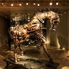 Have a steamin' Halloween. This steampunk horse was created by someone so talented it was chosen to grace the halls of a museum in London. The name of the creator is not known (bitrebels.com asked if you know please tell us), but the guy who shot this inspirational piece of steampunk history is Trey Ratcliff. He should get equal attention for his effort hauling up a tripod when all that was to be seen was this horse in a maze of otherwise black halls.