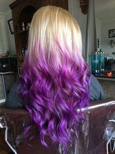 Purple hair ; ombré , blonde