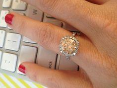 Found on Weddingbee.com Champaign diamond- but in rose gold