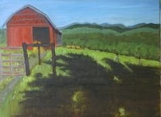 Warren Wilson College hay barn, 2014 — 9x12, oil on paper, $145-framed