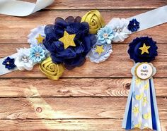 Twinkle Little Star Baby Shower Maternity Sash Glitter Maternity Sash and Dad Pin Sash Boy Maternity Sash Blue Gold Glitter Maternity Sash - Baby Shower Sweets, Boy Baby Shower Themes, Baby Shower Sash, Baby Shower Fun, Maternity Sash, Star Baby Showers, Twinkle Twinkle Little Star, Blue Gold, Etsy