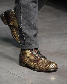 Man Shoes Fashion Show Mens Fall Metal Shoes