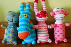 #sock animals...memories, but an all night project.