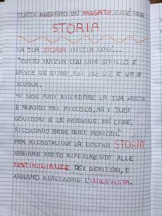 """Quaderno di storia classe 2^ """"La mia storia """""""