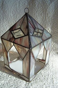 or lantern  Stained Glass Bird Feeder by WildFog on Etsy, $68.00