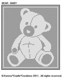 BEAR   BABY FILET CROCHET Pattern