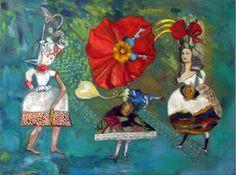 "Saatchi Art Artist Lorry Bentham; Painting, ""Cythera & the Twins - SOLD"" #art"