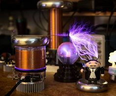 And now it's in me / always with me / tinyTesla in my hand... Master the tinyTesla Musical Tesla Coil Kit, and you'll make yourself a summer science project, a light show, and an Elton-John-MIDI-slaying machine all in one.  Like its papa version,