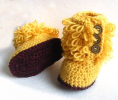 awesome loopy crochet slipper boots