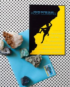 free printable rock climbing party invite {One Charming Party}