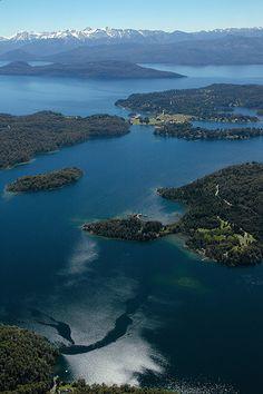 Vista Aérea Lago Nahuel Huapi Argentina