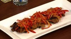 Michael Symon's Mustard Soy Chicken with Carrot Slaw
