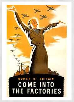 -a3 size poster #print art deco come into the #factories #vintage world war 2#16 , View more on the LINK: http://www.zeppy.io/product/gb/2/161858879107/