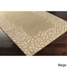 Hand-tufted Rome Floral Border Wool Area Rug (4' x 6') (