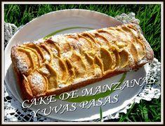 CAKE DE MANZANAS Y UVAS PASAS