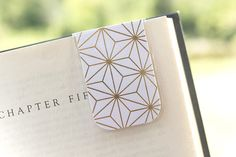 The shine of this gold metallic bookmark is so beautiful, and the star geometric design is so classic! These magnetic bookmarks are fantastic for college students, homeschoolers, travelers, teachers, and book lovers in general. They work great as a planner accessory also. I offer