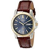 Seiko Men's Stainless Steel Solar Watch with Brown Leather Strap, Multicolor dial Brown Leather Watch, Leather Watch Bands, Best Deals On Laptops, Seiko Men, Leather Wristbands, Watches For Men, Men's Watches, Solar Watch, Stainless Steel