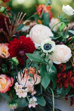 Rich plum and pink wedding inspiration | Photo by Alyssia B Photography | Read more - http://www.100layercake.com/blog/?p=82309