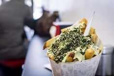 Moo Frites, a takeout spot in Kensington Market , is something Toronto has been lacking until now: a standalone shop that specializes. Toronto, Acai Bowl, Restaurant, Eat, Breakfast, Grande, Wonderland, Vacation, Food