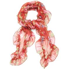 Ruffle scarf Balenciaga MATCHESFASHION.COM ($280) ❤ liked on Polyvore featuring accessories, scarves, balenciaga, ruffle scarf and ruffle scarves