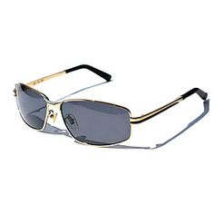 Polarized Rectangle Metal Classic Driving Sunglasses