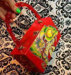 Tattoo art Snake Cigar Box purse by Phantom by NOXIOUSPUNX on Etsy, $35.00