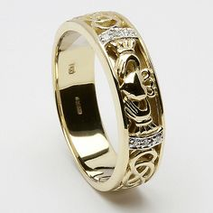 Eibhlin Claddagh Wedding Ring (C-382) - Claddagh Wedding Rings